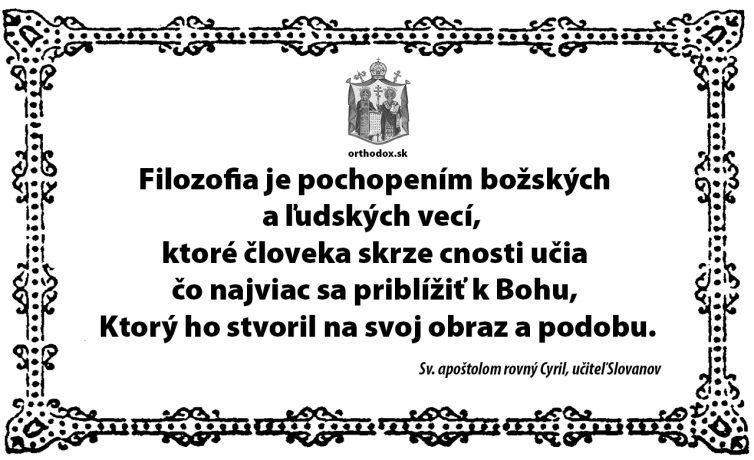 Sv. apoštolom rovný Cyril, učiteľ Slovanov