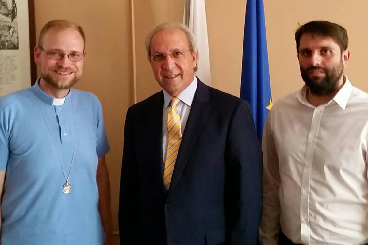 Vladyka Juraj u cyperského veľvyslanca na Slovensku