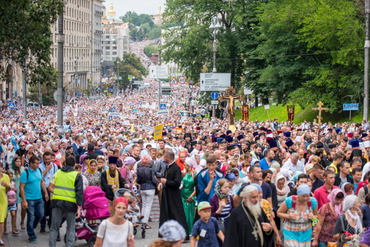 250 tisíc veriacich na Krížovom sprievode v Kyjeve