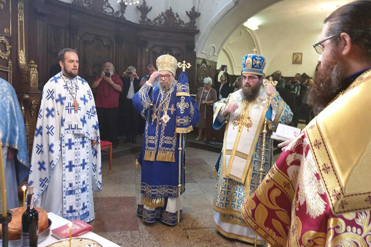 Oslava monastierskeho sviatku v Komárne za účasti metr. Rastislava a srbského vl. Lukiána